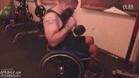 轮椅健身四:哑铃直式弯举