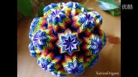 折纸教程『八角星层叠纸花球』Katrins经典教程