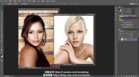 【E学堂出品】ps教程photoshopCS6实例---人物头像抠图 合成 换脸