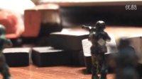 玩具兵枪战微电影-玩具兵战斗场面测试片定格拍摄