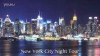 纽约时代广场汽车跟拍夜景