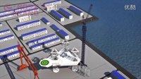 工程设备三维演示动画制作 塔式起重机动画