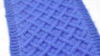 第26集-菱形网格围巾的织法【蝴蝶毛线编织教程】