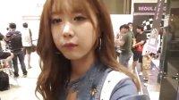 2014韩国首尔汽车沙龙展 超美赛车模特许允美逛展会实拍