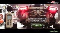 小心音量!!!兰博基尼LP560改裝Fi排气管分贝测试(阀门开启)!