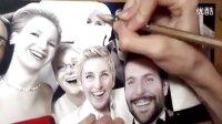 画家 彩色铅笔 写实手绘肖像 Selfie