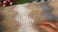 温暖你心毛线店 第74集波浪变条纹手工编织男士情侣怎样织围巾