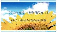 2012高考上海卷文科数学第13题知识点:数形结合下的综合数学问题
