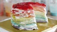 How to Make Rainbow Mille Crepe Cake 무지개 크레이프 케이크 만들기