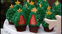草莓圣诞树蛋糕 Better Strawberry Christmas tree cupcakes