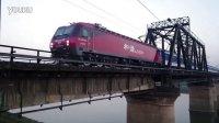 [拍火车]HXD3D+25K北京-长沙[T1]广铁沙段 浏阳河铁道桥下行
