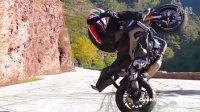 摩托车山路漂移,让你看看什么叫人车合一
