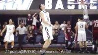 日本球员渡边雄太Yuta Watanabe 21points Highlights (2015.3.7)