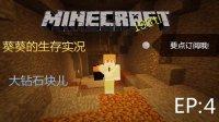 ※我的世界Minecraft※葵葵的生存日记EP4:大钻石块儿