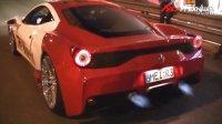 法拉利 458 Speciale 改裝 Fi Exhaust 排气管喷大蓝火!!!
