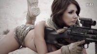 【軍事頻道】- 性感美女日历枪模 震撼你的眼球