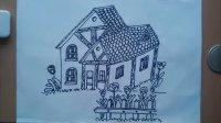 儿童画精美的房子根李老师学画画