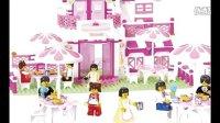 亲子游戏开箱神秘大奖拼装积木益智女孩拼插玩具梦幻城堡惊喜蛋健达奇趣蛋过家家玩具3