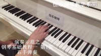 《钢琴基础教程》一  第1页 右手弹奏