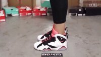 Air Jordan 7 Retro GG -Hot Lava- 白黑红 上脚欣赏