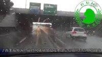 子西莱海外客户前挡风玻璃做超疏水涂层后雨天自洁视野清晰