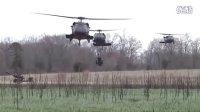 美军101空降师黑鹰直升机机降演练