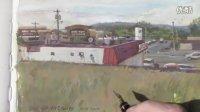 【James Gurney的水粉写生--大卖场外景】Painting the 'Big-Box' Franchise Landscape