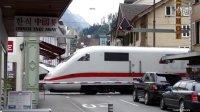 瑞士因特拉肯平交道口看车