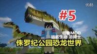 【悠然小天】〓我的世界侏罗纪公园恐龙时代〓第二季生存 EP.5 龙遇险7血逃回家 MC=minecraft