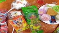 【中国食玩】小宝和光头强分享儿童零食碗仔压片糖蜘蛛侠跳跳糖糖果屋的糖果过家家游戏