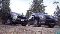 2016款丰田汉兰达vs本田飞行员试驾评测 7座平民SUV之争