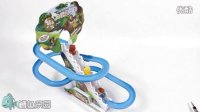 熊出没之熊大熊二光头强滑梯玩具 拆箱试玩 自动轨道滑梯 光头强滑楼梯【NEXT自频道】