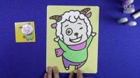 亲子游戏 喜洋洋沙画 智力手工 喜羊羊与灰太狼儿童沙画 喜羊羊沙画