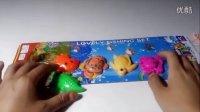 亲子游戏 儿童钓鱼玩具 电动小猫双层磁性旋转钓鱼乌龟章鱼螃蟹
