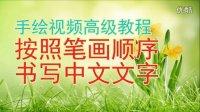 老萧手绘视频高级教程20:按照笔画顺序书写中文文字