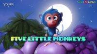 五只小猴子在床上跳 Five Little Monkeys Jumping On The Bed
