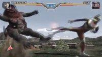 【虾米解说】奥特曼格斗进化3,奥特曼的逆袭,然而被大眼怪终结了