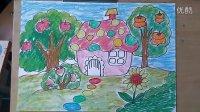 儿童画果园里的房子丰收啦微课跟李老师学画画1
