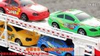 奇趣玩具87 儿童玩具车仿真施工货柜车惯性工程车拖车玩具货柜车拖头车汽车总动员