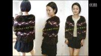 依可爱纯手工编织--原创设计仿水貂开衫1