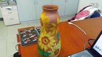 52分钟学会粉笔画——动人向日葵陶瓶装饰