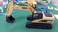 超酷!遥控无线挖掘机 工程车挖土机 电动儿童玩具车 遥控挖机车 男孩玩具挖掘机