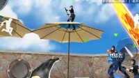 【CF手游闪闪】「生化酒店」上遮阳伞BUG,截图装逼利器-穿越火线手游入江闪闪