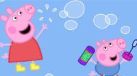 粉红猪小妹中文版小猪佩奇动画片peppapig★月鼓解说★粉红猪小妹小游戏之粉红小猪爱钓鱼