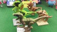 积木恐龙 迅猛龙 积木玩具 小猪佩奇 大头儿子小头爸爸 海底小纵队 哆啦A梦 变形警车珀利