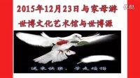 2015年12月23日与母亲游上海世博文化艺术馆与世博源