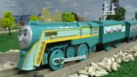 【奇趣箱】托马斯小火车铁路之王,康纳小火车奔跑视频。