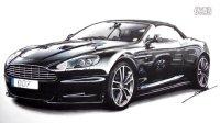 手绘-阿斯顿马丁DBS Volante   Aston Martin DBS Volante Speed Drawing by Roman Miah