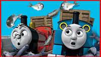 托马斯小火车 空中接鱼 游戏