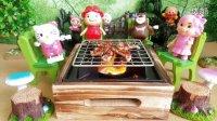 粉红猪小妹猪猪侠熊出没面包超人过家家日本食玩烤肉